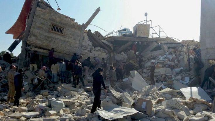 Das zerstörte Krankenhaus in Idlib. (Foto)