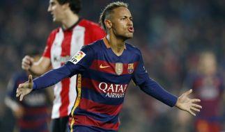 Neuer Ärger für Barcelonas Flügelstürmer Neymar. (Foto)