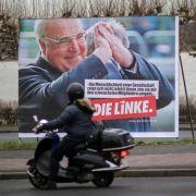 Die Linke zeigt Altkanzler Kohl auf Wahlplakaten (Foto)