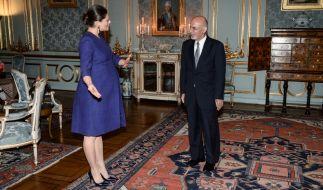 Kronprinzessin Victoria von Schweden, hier beim Empfang des afghanischen Präsidenten Ashraf Ghani in Stockholm am 4. Dezember 2015, hat sich nun in die Babypause verabschiedet. (Foto)