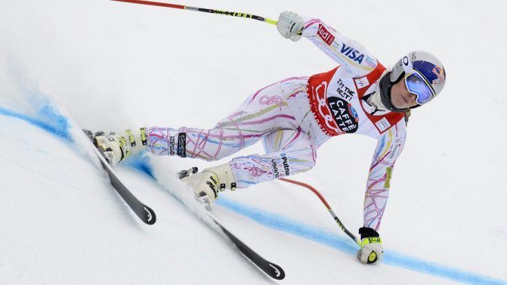 Lindsey Vonn kann beim Weltcup in Italien einen entscheidenden Vorsprung herausholen. (Foto)