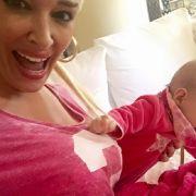 Töchterchen Sophia hält ihre Mami ganz schön auf Trapp!