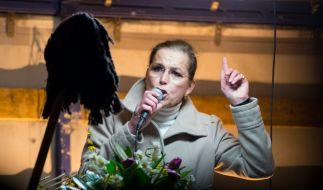 Tatjana Festerling bei einer Pegida-Kundgebung in Dresden. (Foto)