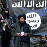 Ein Screenshot eines IS-Videos vom 27.01.2015. Es soll Hafiz Said Khan zeigen, den Anführer der IS-Gruppe in Pakistan und Afghanistan.