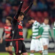 Bayer Leverkusen im Achtelfinale!Schalke und FC Augsburg sind raus (Foto)