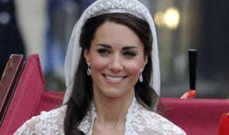 Unverwechselbares Make-Up: Zu ihrer Hochzeit hat Kate Middleton selbst Hand angelegt. (Foto)