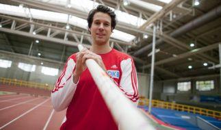 Danny Ecker im Jahr 2012 mit seinem Sportgerät. (Foto)