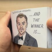 Das Daumenkino zeigt: So hätte Leos Oscar-Prämierung auch ablaufen können.