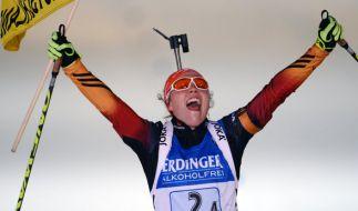 Laura Dahlmeier ist eine der deutschen Medaillen-Hoffnungen in Oslo. (Foto)