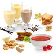 So oder so ähnlich sieht der Essensplan für einen Tag der Diät aus. Was so hübsch dargestellt wird ist nicht immer schmackhaft.