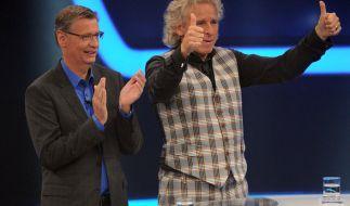 Günther Jauch und Thomas Gottschalk treten in ihrer Show gegen das Publikum an. (Foto)