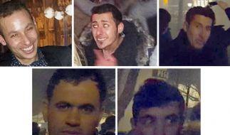 Die Fahndungsfotos der Polizei Köln zeigen Verdächtige aus der Kölner Silvesternacht. (Foto)