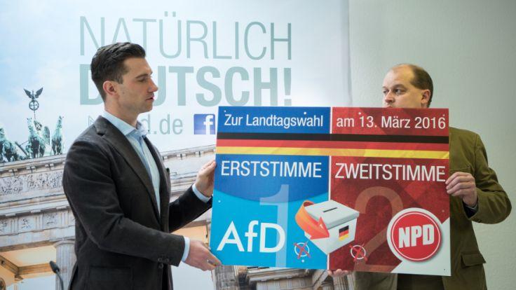 Am Sonntag wird sich bei den Landtagswahlen in Sachsen-Anhalt, Rheinland-Pfalz und Baden-Württemberg zeigen, wie erfolgreich die AfD - trotz fehlenden Parteiprogramms - wirklich ist. (Foto)