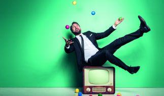 Steven Gätjen kann jedenfalls schon mal jonglieren. (Foto)