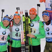 Deutsche Biathlon-Männerstaffel erkämpft WM-Silber hinter Norwegen (Foto)