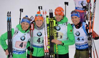 Die deutsche Staffel holte in Oslo Silber! (Foto)