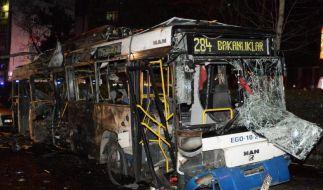 Bei einem erneuten Autobomben-Anschlag in Ankara wurden 125 Menschen verletzt, 34 kamen ums Leben. (Foto)