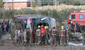 Bei einem Busunglück in Spanien sind 14 Studenten getötet worden. (Foto)