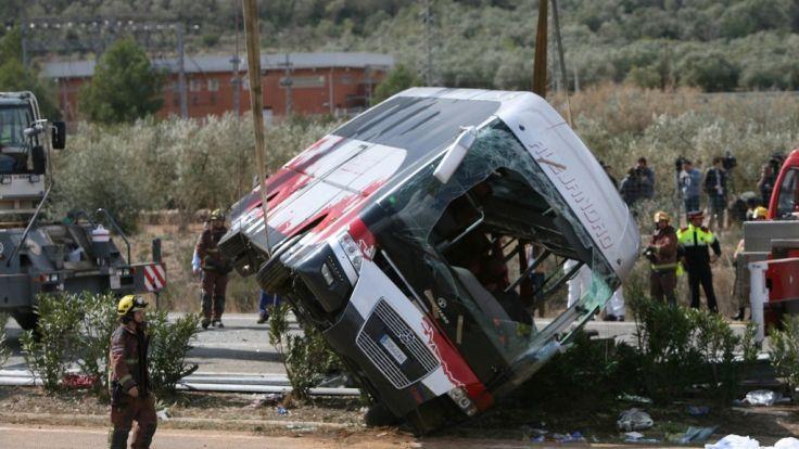 Bei dem schweren Busunglück in Spanien verloren 13 Studentinnen ihr Leben. (Foto)