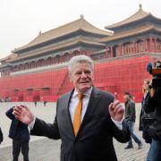 Gauck wirbt in China für Menschenrechte und Demokratie (Foto)
