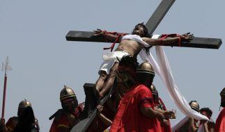 Karfreitag haben sich auf den Philippinen wieder mehr als ein Dutzend Gläubige an Kreuze nageln lassen. (Foto)