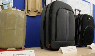 In Köln sichergestellte Kofferbomben. Laut BKA wurden seit 2011 in Deutschland insgesamt elf Terroranschläge vereitelt. (Foto)
