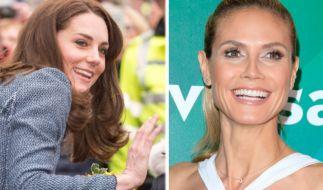 Heidi Klum (m.), Sophia Thomalla (r.) und Herzogin Kate zählten zu den Promis der Woche. (Foto)