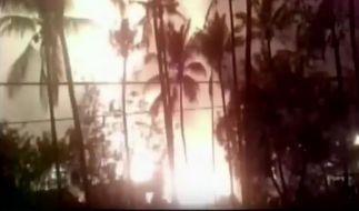 Bei einer riesigen Explosion während des hinduistischen Neujahrsfestes kamen Dutzende Menschen ums Leben. (Foto)