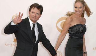 Michael J. Fox mit seiner Frau Tracy Pollan: Er ist einer von vielen Prominenten, die von der degenerativen Erkrankung Morbus Parkinson betroffen sind. (Foto)
