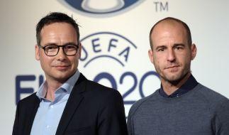 Matthias Opdenhövel und Mehmet Scholl stehen für die ARD für die Euro 2016 bereit. (Foto)