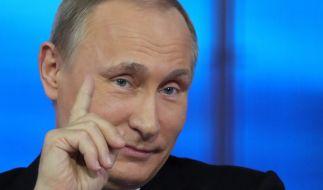 Russlands Präsident Wladimir Putin bei seiner alljährlichen Fragestunde. (Foto)