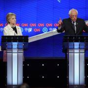 Clinton und Sanders gehen sich an den Kragen (Foto)
