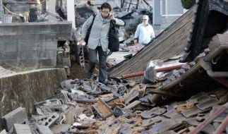 Erneutes schweres Erdbeben in Japan. (Foto)