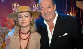 Musikproduzent Ralph Siegel mit Sängerin Nicole im Jahre 2005. (Foto)