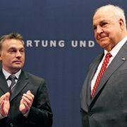 Altkanzler empfängt Merkel-Gegner Viktor Orban (Foto)