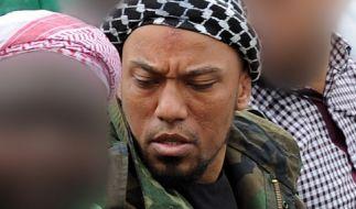 Dschihadist Denis Cuspert in einer Moschee in Bonn. (Foto)