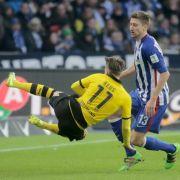 Stürzt Hertha die taumelnde Borussia endgültig in die Krise? (Foto)