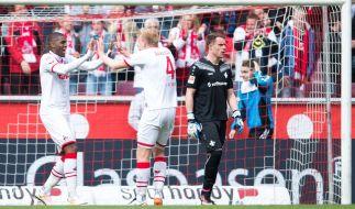 Der 1. FC Köln machte mit dem Sieg gegen Darmstadt 98 am Samstag den Klassenerhalt in der Bundesliga so gut wie fix. (Foto)
