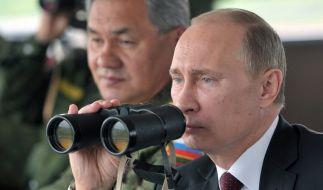 Hat Putin schon einen Nachfolger im Auge? Sergei Shoigu steht voll und ganz hinter ihm. (Foto)