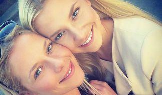 Ceyenne Pahde (l.) mit ihrer Schwester Valentina Pahde (r.). (Foto)