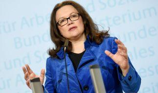 Sozialministerin Andrea Nahles fordert härtere Regelungen für die Sozialleistungen für Zuwanderer. (Foto)