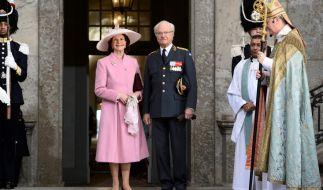 Königin Silvia und König Carl Gustaf zum Dankesgottesdienst am 30. April 2016 in Schweden. (Foto)