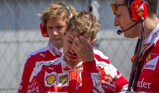 Nach dem zweiten Ausscheiden im vierten Rennen dieser Saison, macht sich bei Sebastian Vettel Ratlosigkeit breit. (Foto)
