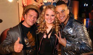 Thomas Katrozan (l.), Laura van den Elzen und Prince Damien sind im Finale von DSDS 2016. (Foto)