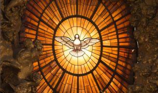 Der heilige Geist wird zu meist in Form einer weißen Taube dargestellt. (Foto)