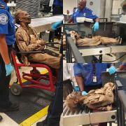 Hier checkt eine Mumie ein (Foto)