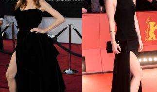 """Links Angelina Jolie im übertriebenen Posing-Modus und Lena (r.) mit geschmackvollen """"Beinradius"""" bei den Filmfestspielen in Berlin. (Foto)"""