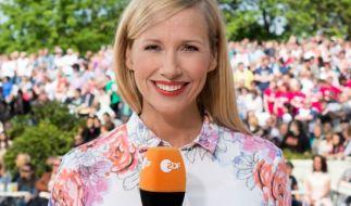 Andrea Kiewel sorgt in der vierten Ausgabe des ZDF-Fernsehgartens für eine Sensation und überrascht die Zuschauer. (Foto)