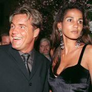 An der Seite von Dieter Bohlen wollte Nadja abd el Farrag es ins Rampenlicht schaffen. Hier bei einer Party 1999 im Anschluss an die Verleihung der goldenen Kamera.