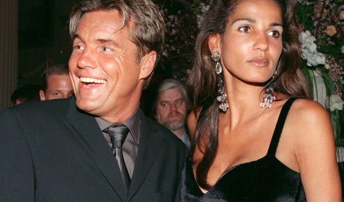 An der Seite von Dieter Bohlen wollte Nadja abd el Farrag es ins Rampenlicht schaffen. Hier bei einer Party 1999 im Anschluss an die Verleihung der goldenen Kamera. (Foto)